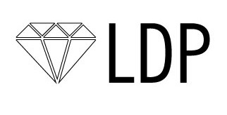 Illustration of a diamond and the LDP book logo acronym. Livre Doux Publishing -